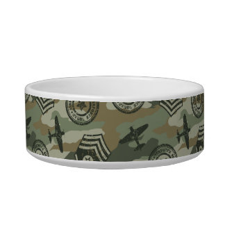 Military badges bowl