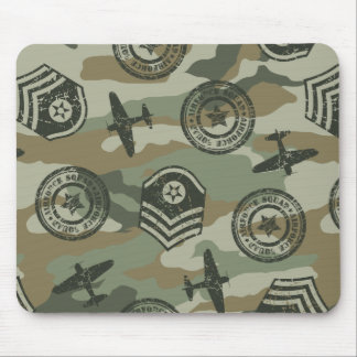 Military badges mouse pad