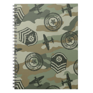 Military badges notebook