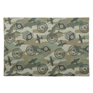 Military badges placemat