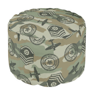 Military badges pouf