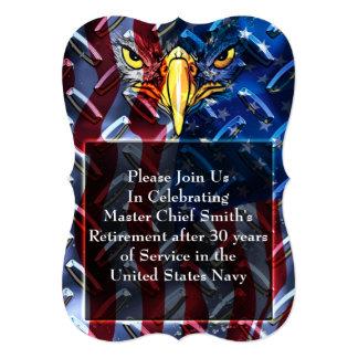 Military Bald Eagle and Diamond plate Card