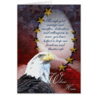 Military Bald Eagle Welcome Home Greeting Card
