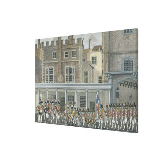 Military Band at St. James' Palace, late 18th cent Gallery Wrapped Canvas