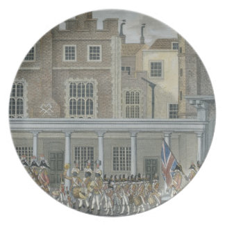 Military Band at St. James' Palace, late 18th cent Dinner Plate