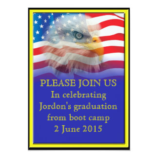 Military Boot camp Graduation 13 Cm X 18 Cm Invitation Card