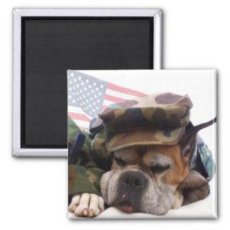 Military boxer Dog magnet