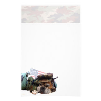Military boxer dog stationary stationery