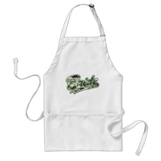 Military Bride Green Camouflage Standard Apron