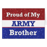 Military - BROTHER in Army - Thinking of You Greeting Card