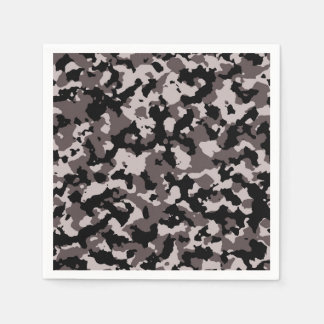 Military Brown Camouflage Pattern Paper Napkins