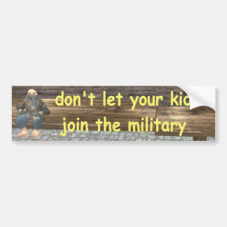 military bumper sticker