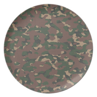 Military Camo 4 Soldiers, Patriots & Veterans Army Dinner Plates