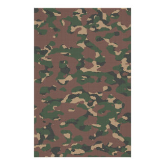 Military Camo 4 Soldiers, Patriots & Veterans Army Personalized Stationery