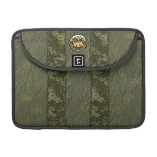 Military Camo Stripes with Army Insignia Emblem Sleeves For MacBooks