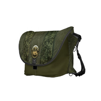 Military Camo Stripes with Army Insignia Courier Bags