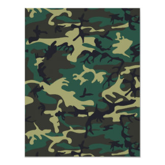 Military Camouflage 11 Cm X 14 Cm Invitation Card