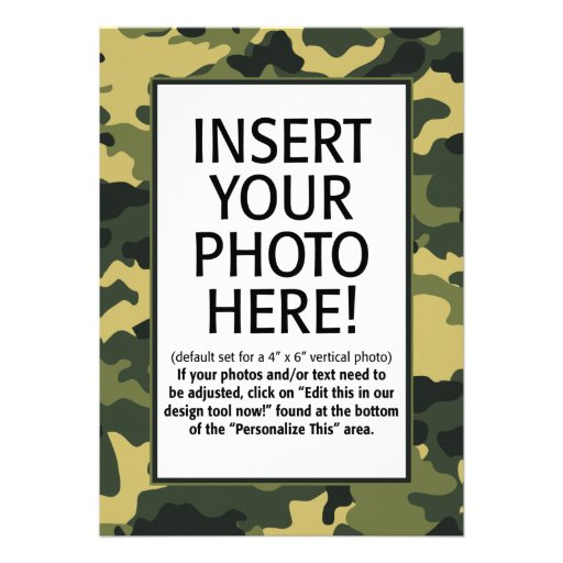 military / camouflage - Birthday Invitation
