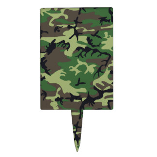 Military Camouflage Cake Topper