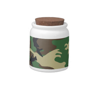 Military Camouflage Candy Jar