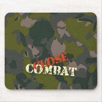Military camouflage for soldier: close combat war mouse pad