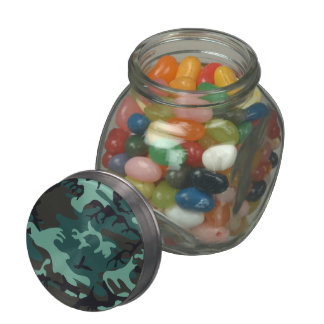 Military Camouflage Glass Jar