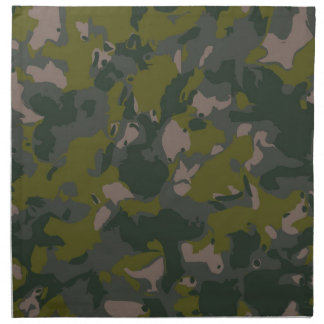 Military camouflage printed napkin