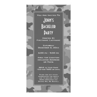 Military Camouflage Party Invitation Photo Card Template