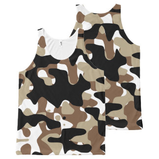 Military Camouflage Pattern All-Over Print Singlet
