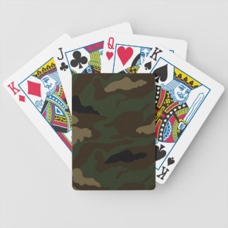 military camouflage pattern bicycle playing cards