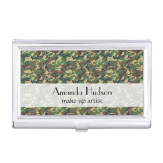 Military Camouflage Pattern - Brown Yellow Green Business Card Cases