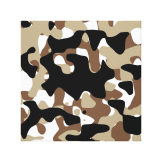 Military Camouflage Pattern Canvas Print