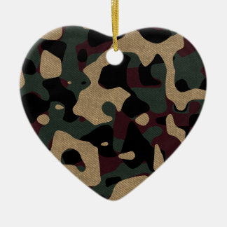 military camouflage pattern ceramic ornament