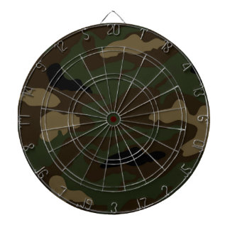 military camouflage pattern dartboard