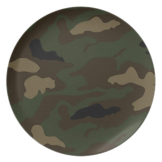 military camouflage pattern dinner plate
