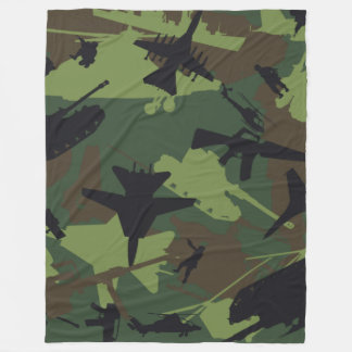 Military Camouflage Pattern Fleece Blanket
