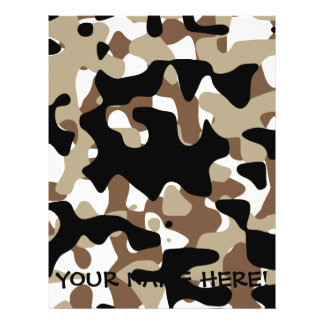 Military Camouflage Pattern Flyer