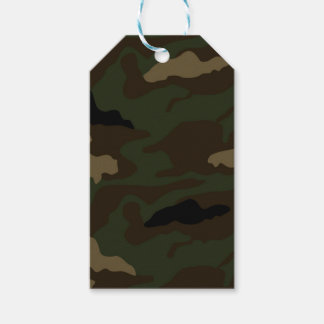 military camouflage pattern gift tags