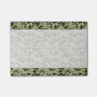 Military Camouflage Pattern - Green White Black Post-it Notes