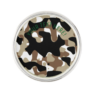 Military Camouflage Pattern Lapel Pin