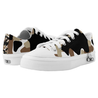 Military Camouflage Pattern Low Tops