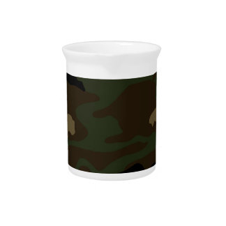 military camouflage pattern pitcher