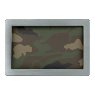 military camouflage pattern rectangular belt buckle