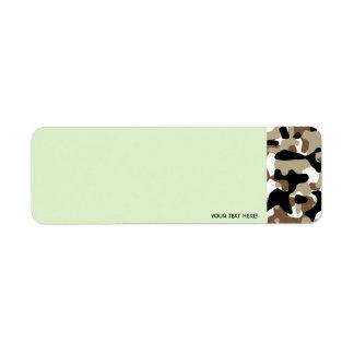 Military Camouflage Pattern Return Address Label