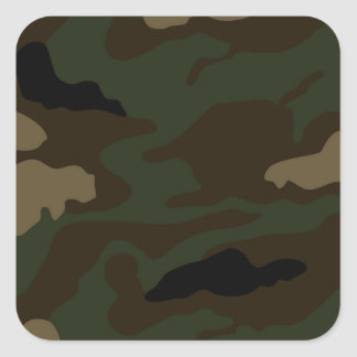military camouflage pattern square sticker