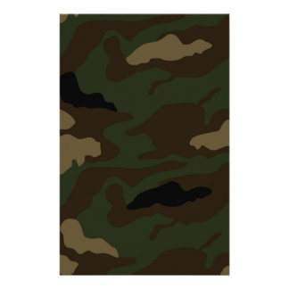 military camouflage pattern stationery