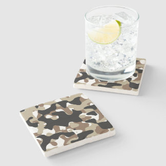 Military Camouflage Pattern Stone Coaster
