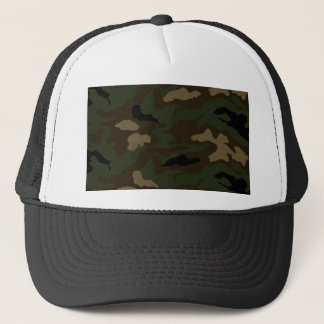 military camouflage pattern trucker hat