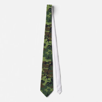 Military Camouflage Pattern, Woodland Style Tie