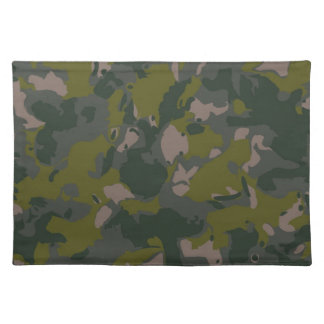 Military camouflage place mat